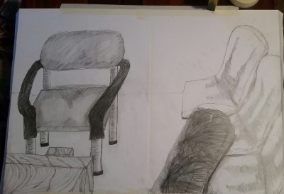 Exercise One, Life study of chairs