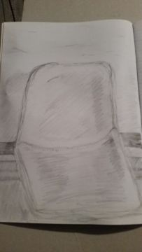 Graphite development sketches Exercise 1 study of chairs