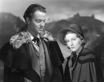 Promotional photograph for the 1943 film Jane Eyre: Orson Welles & Joan Fontaine